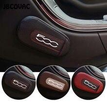 1PC de cuero accesorios de coche pierna cojín de la rodilla almohadilla de reposabrazos de coche pegatina para Fiat Abarth 500 Punto Stilo Ducato estilo de coche