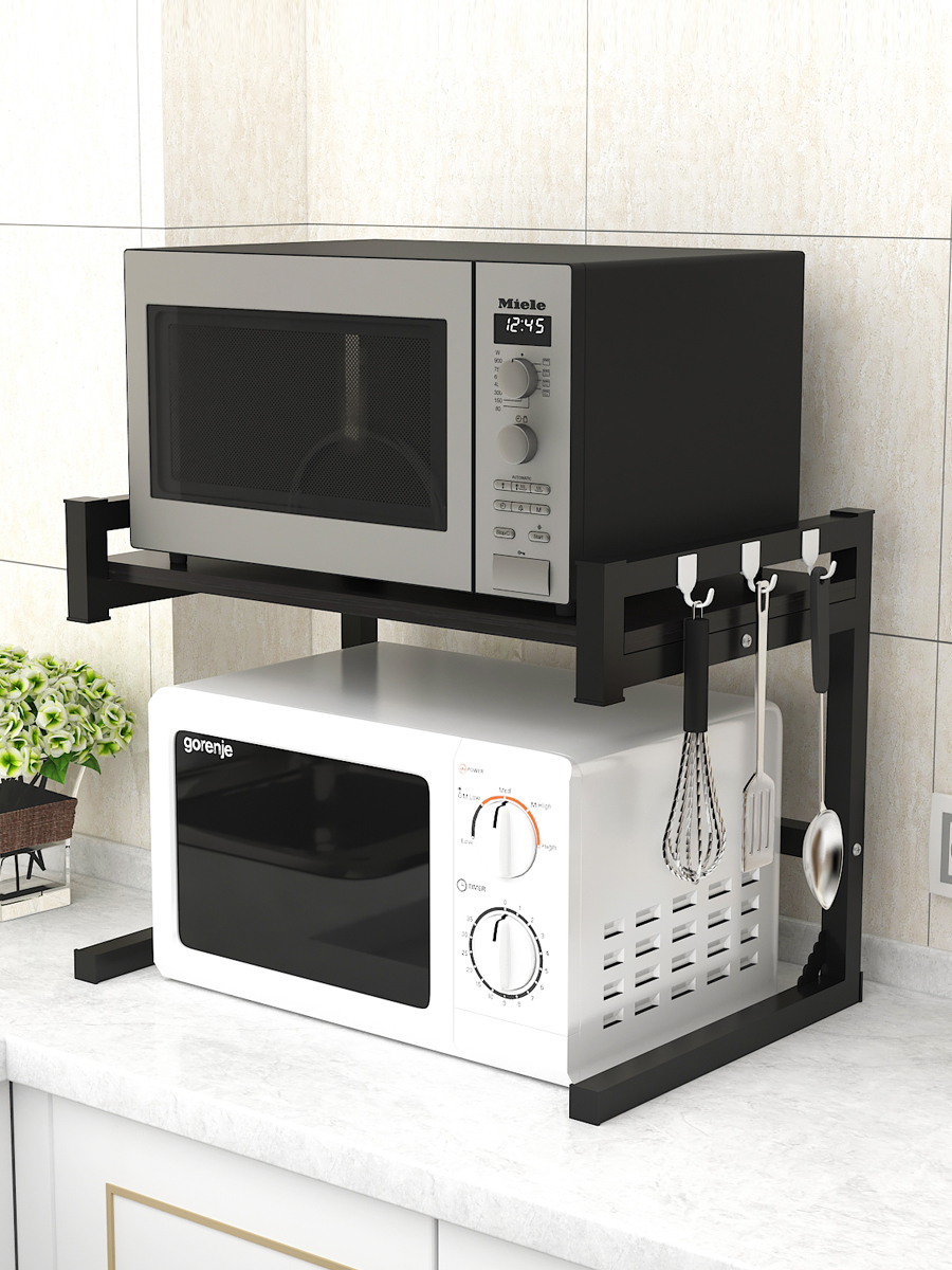 Kitchen Shelf Seasoning Rack Microwave Rack Oven Rack