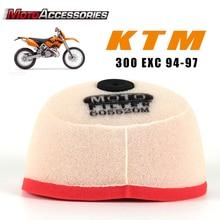 מסנן אוויר אופנוע מוטוקרוס סקוטר אוויר תרמילי מנקה עבור KTM 300 EGS EXC MXC SX 360 EGS EXC MX MXC קצף שמן מסנן מנקה