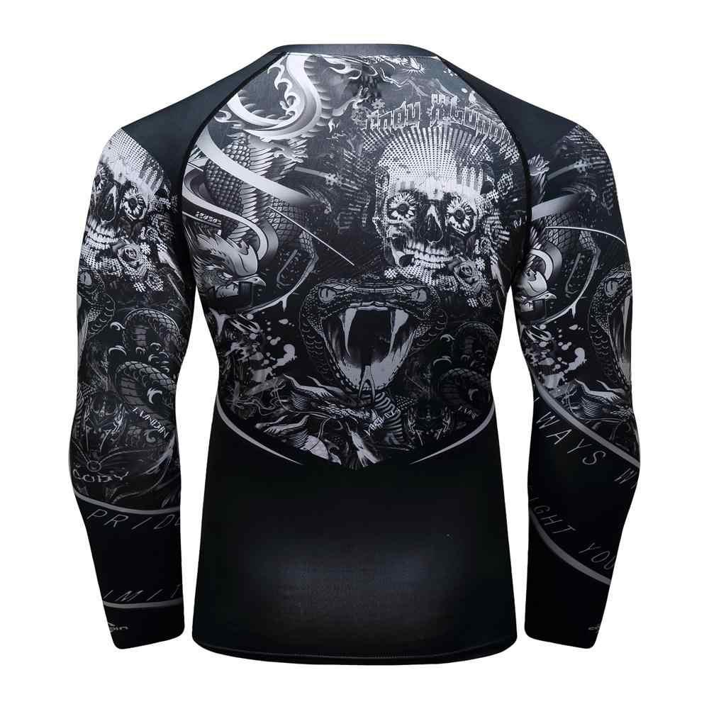 Compressão homem Esporte Terno Quick-secagem Do Suor Kit de Treinamento de Fitness MMA rashguard Masculino Sportswear Corrida Roupas de Corrida