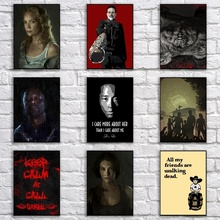 Walking Dead Poster Cartoon Abstract Art Painting Funny Wall Sticker