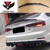 A5 M4 style Carbon Fiber Car styling Rear Trunk Wing Spoiler for Audi A5 Sedan 4 Door 2017 2018 2019