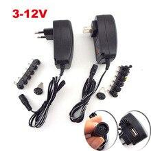 AC 100-240V DC 3V 4.5V 5V 6V 7.5V 9V 12V 2A 2.5A 조정 가능한 전원 공급 장치 어댑터 LED 빛 스트립 cctv에 대 한 유니버설 충전기