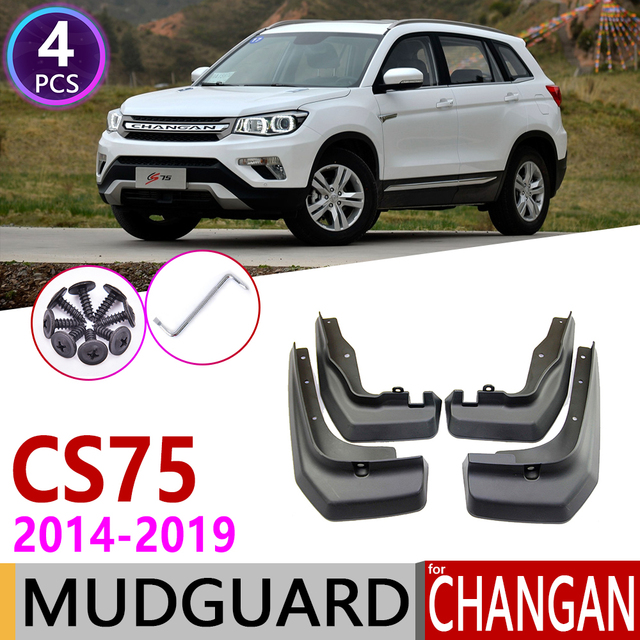 Per Changan CS75 2014 ~ 2019 Anteriore Posteriore Paraspruzzi Parafango Guard Mud Flap Splash Flaps Parafanghi Accessori 2015 2016 2017 2018