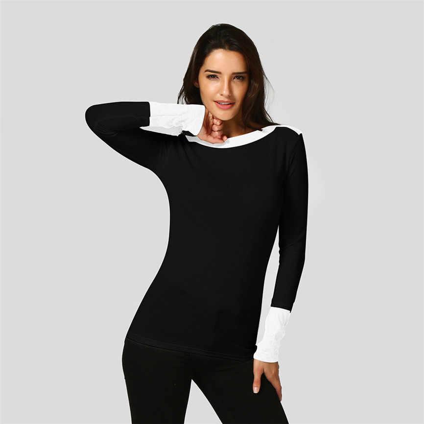 2019 mulheres de inverno coreano camisola sexy o pescoço luta cor manga longa jumper blusas blusa topos de frio feminina