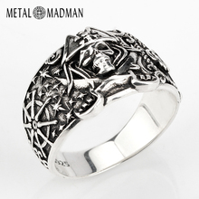 925 Skull Ring for Men Sterling Silver Skeleton Skull Ring Pirate Anchor Biker Punk Gothic Style For Lovers Party Jewelry
