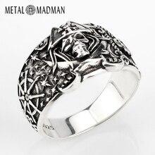 925 anneau de crâne pour hommes en argent Sterling squelette crâne anneau Pirate ancre Biker Punk Style gothique pour les amoureux bijoux de fête
