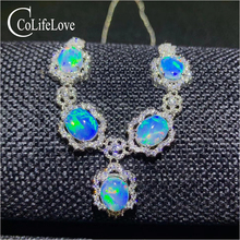 Opal Necklace Jewelry 925-Silver Natural Wedding-5pieces for Birthday-Gift Colife Woman