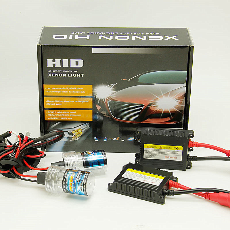 H1 HID Kit 55W 12V with Slim AC Ballasts 4300K 6000K 8000K or 10000K 24V 12V