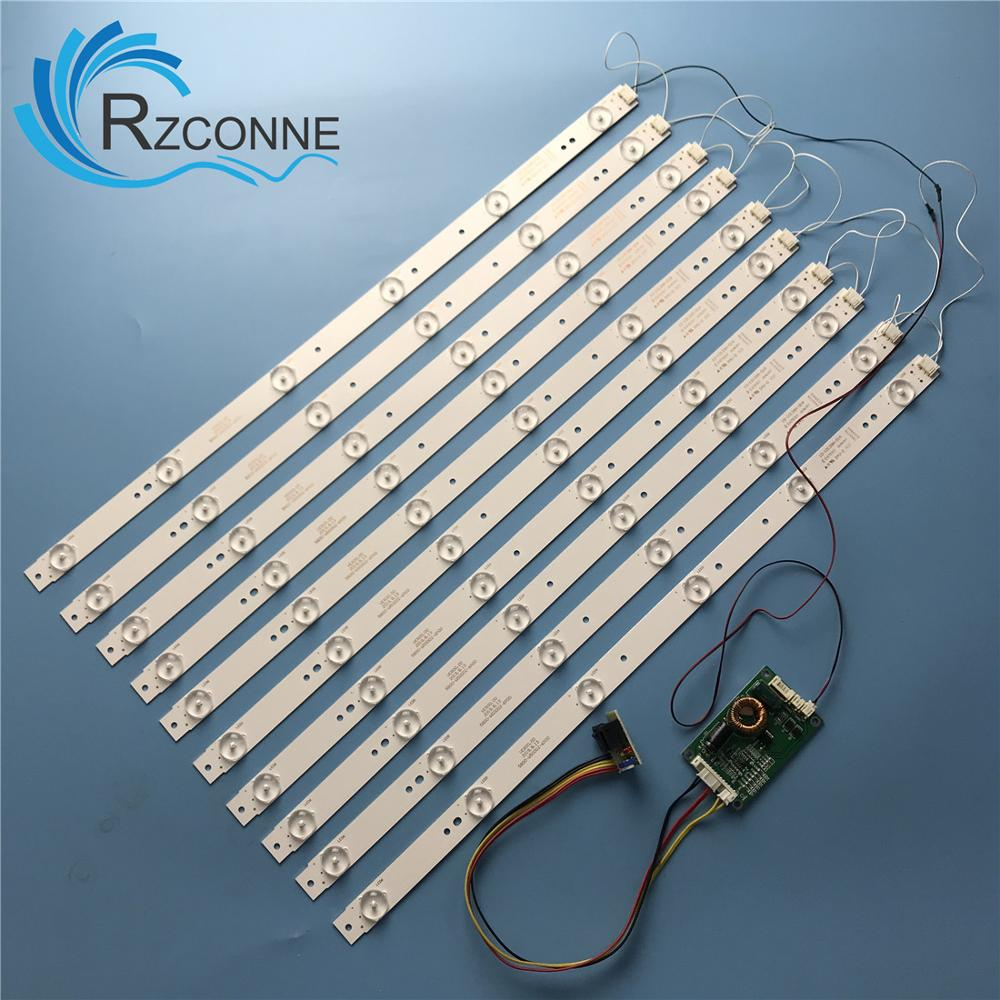10pcs 488mm LED Backlight Strip 6 Lamps Kit Board Fliter For 48 49 50 Inch  LCD LED TV  12V Input Billboard Update CCFL