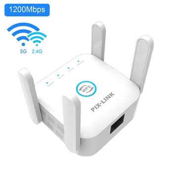 Repetidor WiFi inalámbrico de 5 Ghz, amplificador de 2,4G, 5G, punto de...