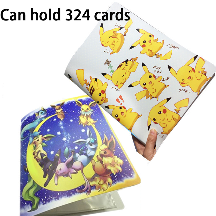 324 Cards Pokemon Pikachu Collection Card Book Pet Collection Book Hobby Collectibles Game Collection Anime Cards for Children