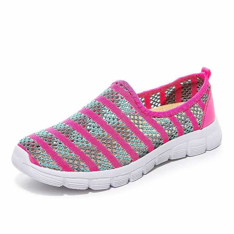 PINSEN 여름 여성 신발 통기성 메쉬 스니커즈 여성 발레 플랫 신발 숙녀 슬립 아파트 로퍼 신발 femmes chaussures