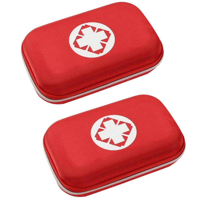 2Pcs Portable Family Travel Outdoor Emergency Medicine Bag Small Divider Storage Organizer Camping