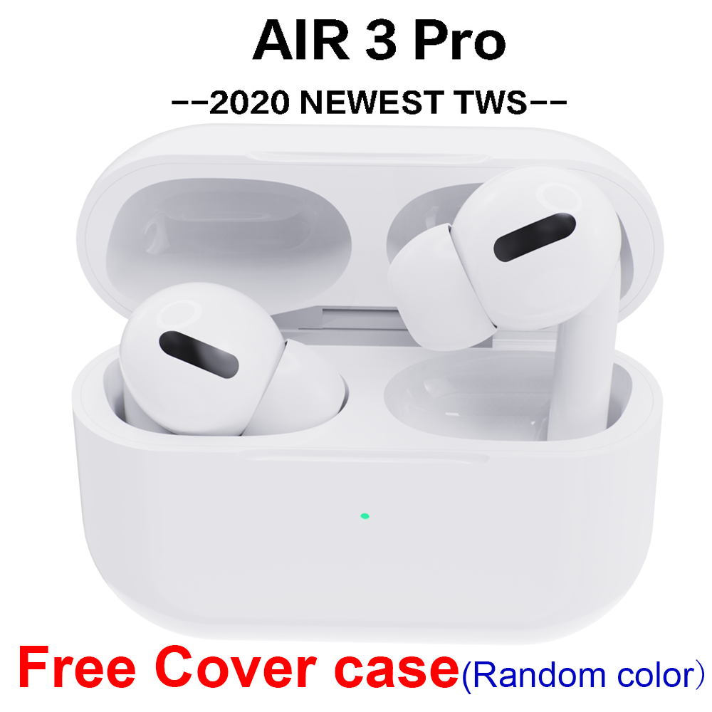 Airpodding Pro 3 Wireless Headset Bluetooth 5.0 Earphone Smart Sensor Aire Earbuds With Free Cover For IPhone Android Pod Pro 3