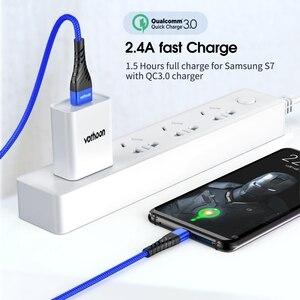 Кабель Micro USB Vothoon 3A, кабель Micro USB для быстрой зарядки и передачи данных для Samsung, Xiaomi, Huawei, Android, мобильный телефон, зарядный кабель
