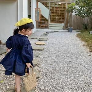 Image 3 - ¡Novedad de primavera! Conjuntos de ropa de algodón de estilo coreano, vestido de princesa de manga larga con mini falda a la moda para niñas bebé lindas.