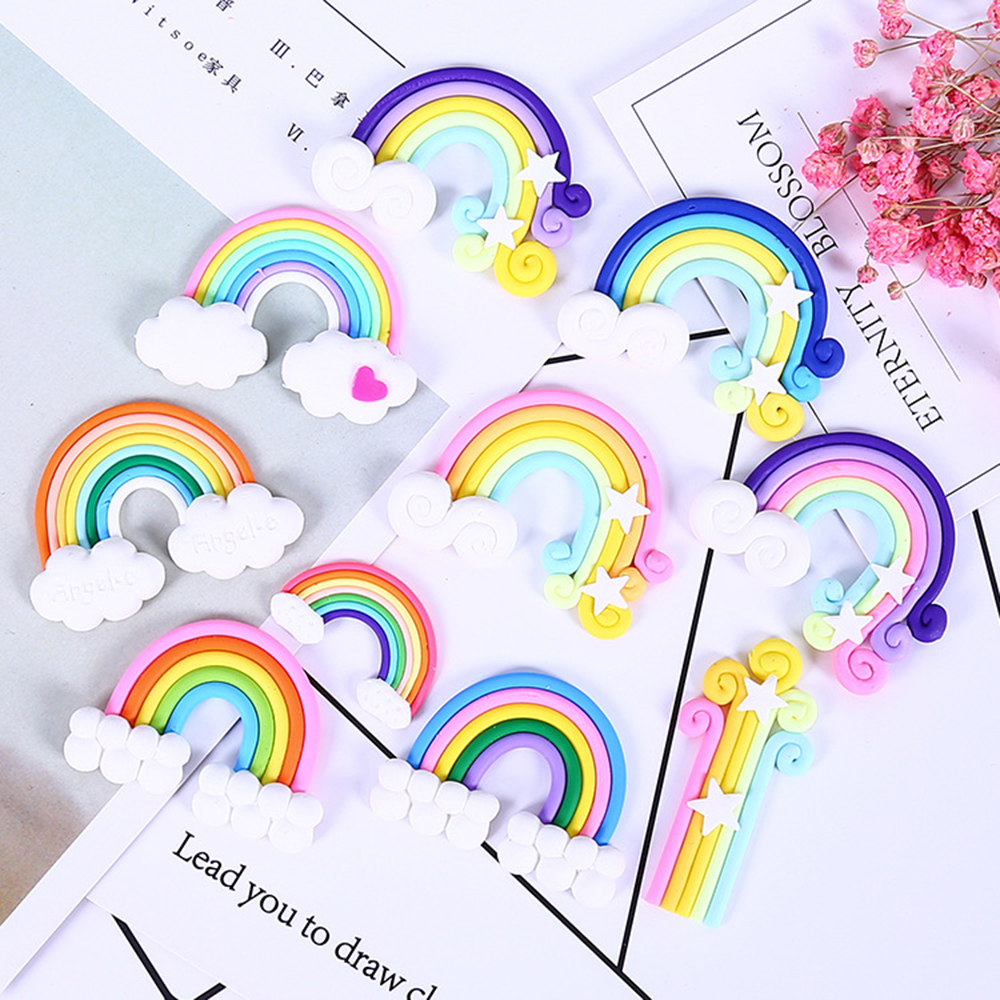 Rainbow Charms For Slime Addition DIY Candy Polymer Bead Filler Slime Accessories Kids Toys Lizun Modeling Clay Kit For Children