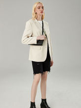 Женский пиджак на пуговицах Повседневная тонкая однотонная куртка