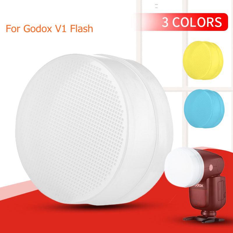 3 шт. Цвет комплект крышка для рассеивателя вспышки вспышка-стробоскоп для GODOX V1C V1N V1S V1F V1O Камера лампы-вспышки софтбокс чехол Аксессуары для...