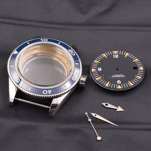 Image 4 - Watch Case  41mm Ceramic Bezel Mens316 SS dial hands fit Miyota 8205/8215,ETA 2836,DG2813/3804 mechanical Wristwatch waterproof