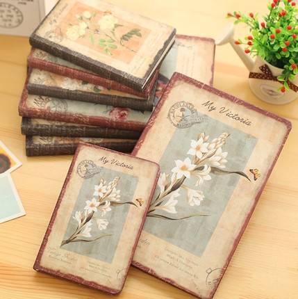 Jingu Flower Notebook European Retro Cloth Cover Notebook Personal Diary Book Vintage Notebook Korean Stationery School-supplies
