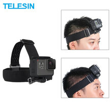 TELESIN Kepala Tali Mount untuk Go Pro Hero 8 7 6 5 4 3 2 SJCAM DJI Osmo Aksi Belt Strip headband Aksesoris Action Camera Olahraga(China)