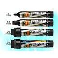 Marcador de arte pop 12 cores/conjunto oleoso baseado caneta de marca de tinta 6/12/20/30mm marcador definido melhor para suprimentos de publicidade de cartaz de manga