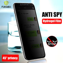 Volledige Cover Privacy Screen Protector Voor Samsung Galaxy S20 S10 S9 S8 Plus Anti Spy Film Voor Samsungnote 10 20 plus 8 9 Niet Glas(China)