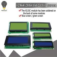LCD1602 LCD 1602 2004 12864 module bleu vert écran 16x2 20X4 caractère LCD Module d'affichage HD44780 contrôleur bleu noir lumière