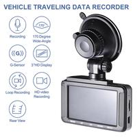 3 Inch Full HD 1080P Car DVR Driving Recorder Dash Cam Dashboard Camera HD Screen for Loop Recording Night Vision G Sensor