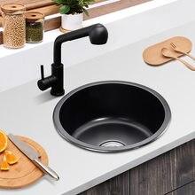 Небольшой Размеры круглый Кухня раковина Нержавеющаясталь с