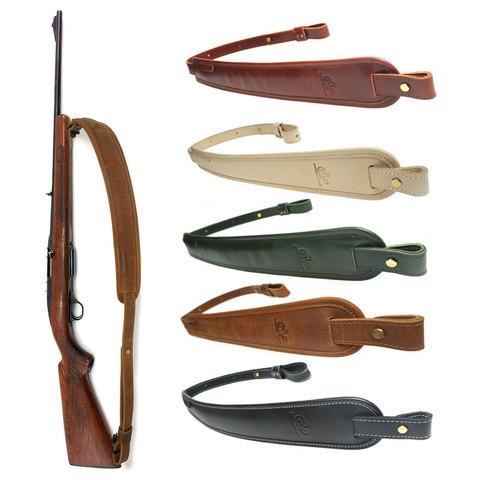 caca rifle arma estilingue ombro acolchoado artesanal couro alca de espingarda ajustavel 83 105 cm