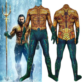 New Aquaman Arthur Curry Cosplay Costume Superhero Zentai Bodysuit Suit Jumpsuits Halloween adult kids spider far from home peter parker cosplay costume zentai spider superhero bodysuit suit jumpsuits