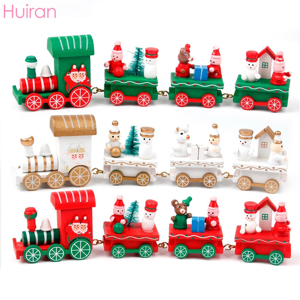 Merry Christmas Train Set Toy Presents Chrisrmas Home Decor Pendant Ornaments Christmas Gift for kids Navidad 2019 New Year 2020