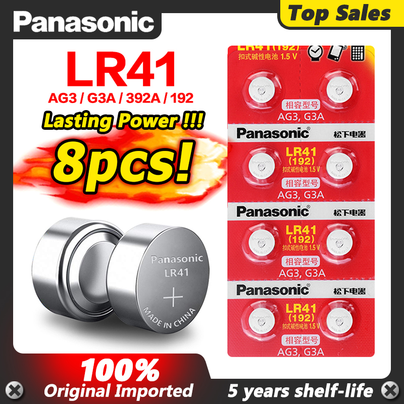 Батарейки AG3 LR41 192 V3GA кнопочные, 1,5 в, SR41SW SR415W TR41SW LR41 LR41H SR41 SR41W, для игрушек, часов, 8 шт.