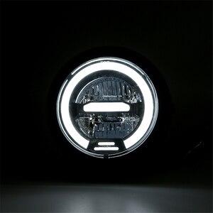 Image 2 - Faro delantero LED Vintage para motocicleta CG125 Cafe Racer, DRL, Retro, de Metal, 12V, 55W, Hi Beam, 6,8 pulgadas