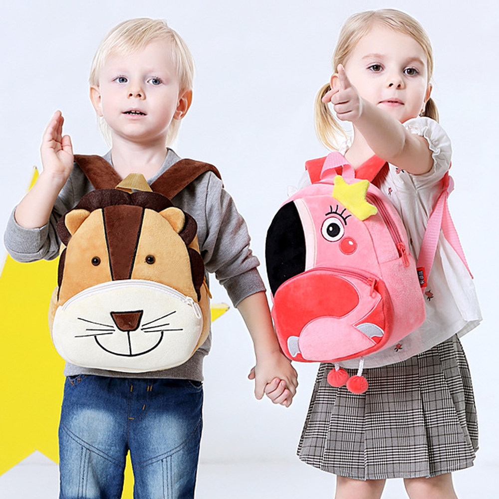 Cartoon Children's School Bag Gifts For Kindergarten Boys Girls Baby Cartoon Cute Mini Plush Backpack Plush Toy Gifts