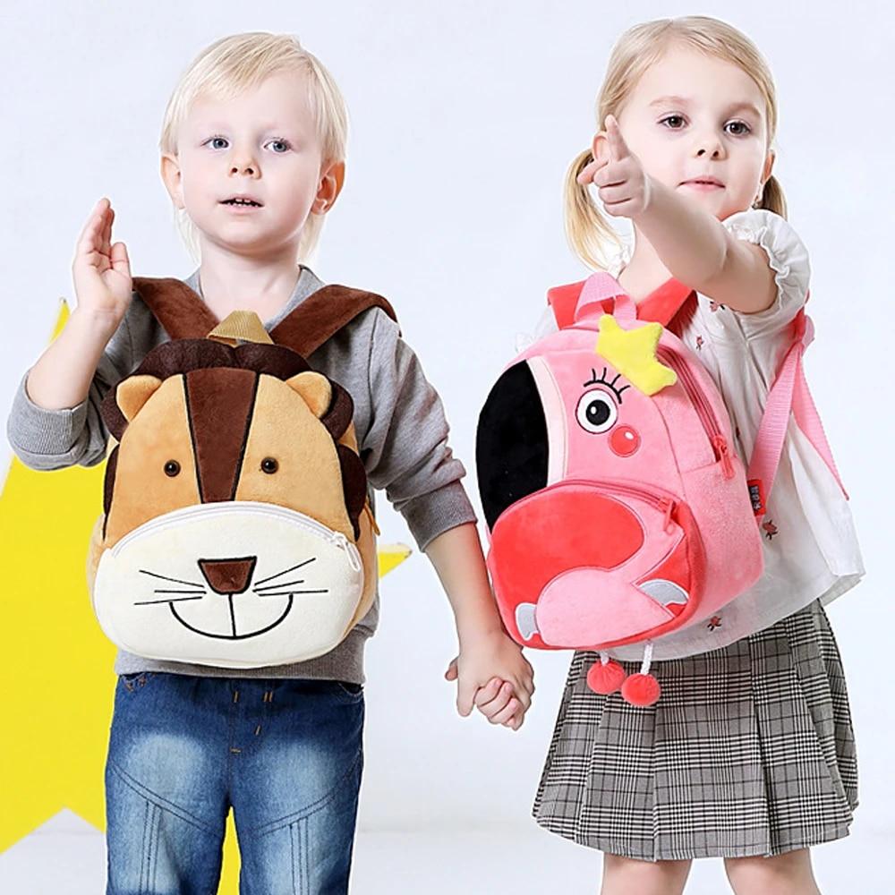 Children School Bag Plush Cartoon Toy Baby Backpack Boy Girl Kids School Bagpack