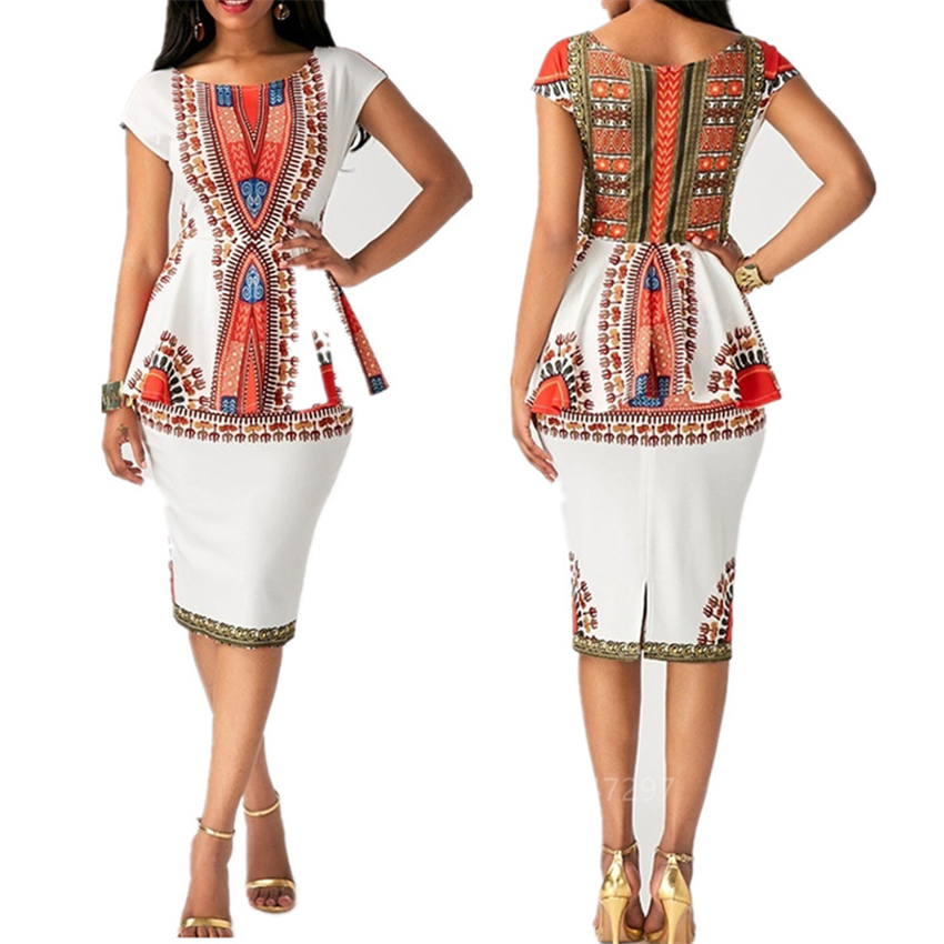 African Dresses For Women 2020 News Ankara Dashiki Print Top Skirts Ladies African Clothes Streetwear Robe Africaine Vestidos