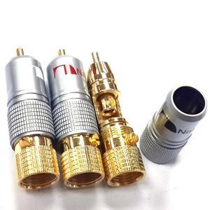 Image 2 - Haldane 8 adet/grup Nakamichi RCA fiş Ses Kablosu Konektörü 24K Altın Kaplama Vidalar Lehimleme Kilitleme Ses RCA fiş s