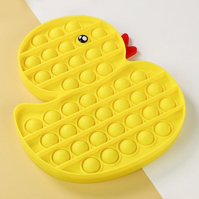 Yellow Duck Animals Fidget Toy Push Bubble Stress Sensory Toy 2