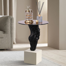 Creative Home Furnishing Hotel Living Room Floor Decorations Drinking Water Horse Head Statue Storage Small Table Ornament