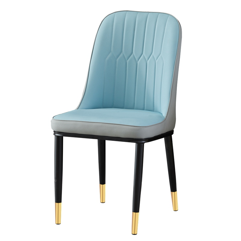 Nordic Light Luxury Dining Chair Household Makeup Desk Chair Computer Chair Back Modern Simple Table Iron Chair|  - title=