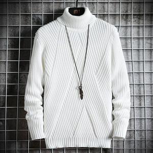 Spring Autumn Men's Sweater Streetwear Japan Style Sweater Men Casual Harajuku Long sleeve Men's Clothing Turtelneck Sweater Men