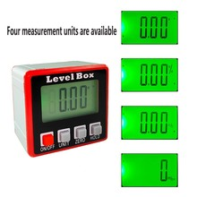 Automatic Digital Protractor Angle Finder Lever Inclinometer Slope Meter Four Meaturement Unit Horizontal Verticle LCD Display недорого