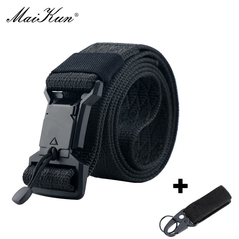 Maikun New Nylon Men Belt High Quality Military Tactical Belt Outdoor Hunting Waistband
