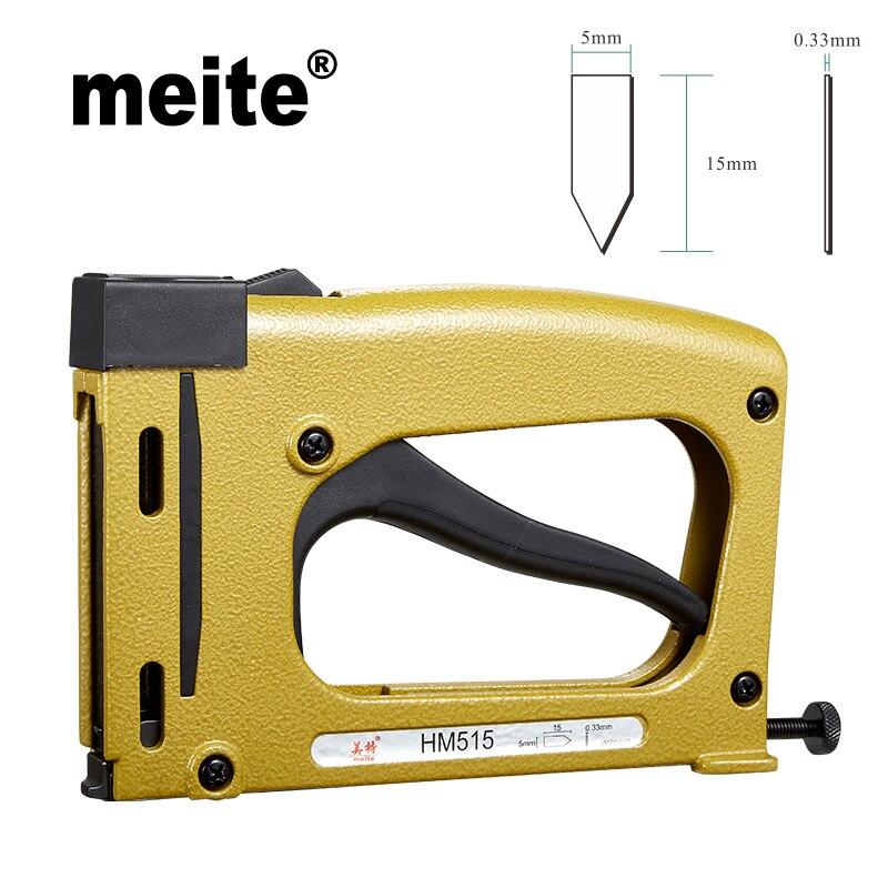2370.05руб. 10% СКИДКА|Meite HM515 фоторамка пистолет ручной flex point tacker framing инструменты ручной скобозабиватель пистолет с 1000 шт скобы Jun.14 инструмент для обновления|picture framing gun|framing gun|framing tools - AliExpress