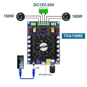 Image 1 - TDA7498E 160 ワット * 2 オーディオデジタルパワーアンプボードクラス d デュアルチャンネルステレオ TDA7498 サブウーファーステレオホームシアターアンプ