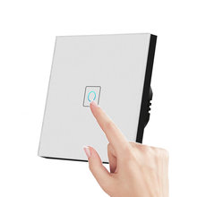 EU/UK Standard Touch Switch 1/2/3 Gang Smart Switch 220V Crystal Glass Panel Light Switches, Touch Screen Sensor Switch eu uk standard light wall touch screen switch ac110 240v touch switch crystal glass panel 1 2 3 gang 1 way wall touch switch